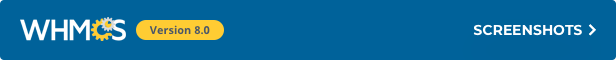 WHMCS 7.5.1 Screenshots